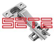 SETE Петля угловая 45°, без евро, сталь, H-45 — копия